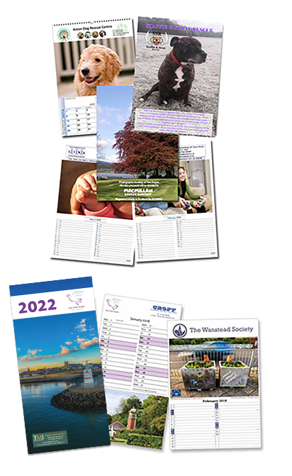 A selection of Charity Calendars